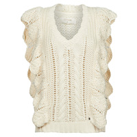 Textil Mulher camisolas Cream ANNOLINA KNIT SLOPOVER Branco