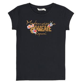Textil Rapaz T-Shirt mangas curtas Kaporal ELISA Preto