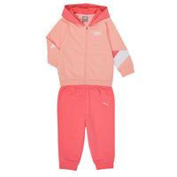 Textil Rapariga Conjunto Puma BB MINICATS REBEL Rosa / Cinza