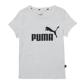 Textil Rapariga T-Shirt mangas curtas Puma ESS TEE Branco