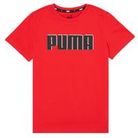 Textil Rapaz T-Shirt mangas curtas Puma ALPHA GRAF TEE Vermelho