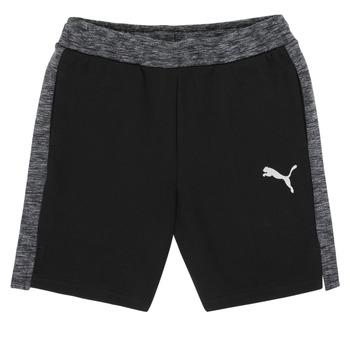 Textil Rapaz Shorts / Bermudas Puma EVOSTRIPE SHORTS Preto