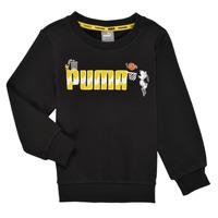 Textil Rapaz Sweats Puma SNOOPY PEANUTS CREW Preto