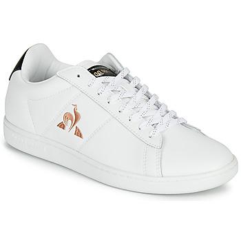 Sapatos Mulher Sapatilhas Le Coq Sportif COURTSET Branco / Preto