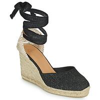 Sapatos Mulher Sandálias Castaner CARINA Preto / Ouro