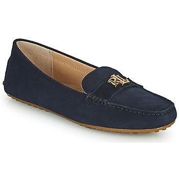 Sapatos Mulher Mocassins Lauren Ralph Lauren BARNSBURY FLATS CASUAL Marinho