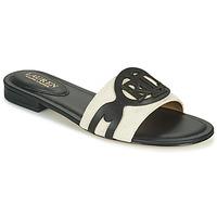 Sapatos Mulher Chinelos Lauren Ralph Lauren ALEGRA Preto / Bege