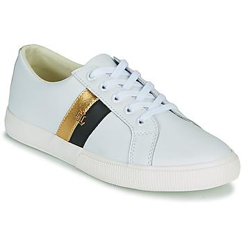 Sapatos Mulher Sapatilhas Lauren Ralph Lauren JANSON II Branco / Ouro