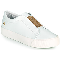 Sapatos Mulher Sapatilhas Lauren Ralph Lauren ISLA ACT Branco / Ouro
