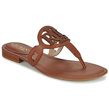 Sapatos Mulher Sandálias Lauren Ralph Lauren AUDRIE Conhaque