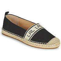 Sapatos Mulher Alpargatas Lauren Ralph Lauren CAYLEE Preto