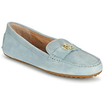 Sapatos Mulher Mocassins Lauren Ralph Lauren BARNSBURY FLATS CASUAL Azul / Céu