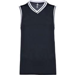 Textil Tops sem mangas Proact Débardeur  university bleu marine/blanc