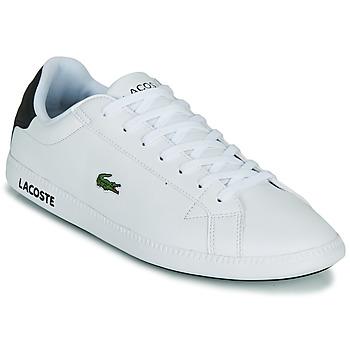 Sapatos Homem Sapatilhas Lacoste GRADUATE 0120 2 SMA Branco / Preto