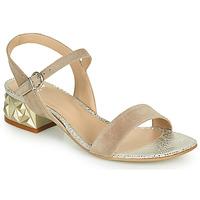 Sapatos Mulher Sandálias Perlato 11817-CAM-FREJE-STONE Bege / Ouro
