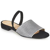 Sapatos Mulher Sandálias Perlato 11117-YORK-ARGENT-CAM-NOIR Preto / Prateado
