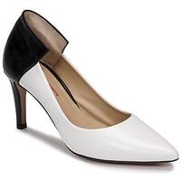 Sapatos Mulher Escarpim Perlato 11764-VENUS-BLANC-JAMAICA-NOIR Branco / Preto