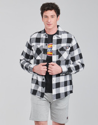 Textil Homem Camisas mangas comprida Dickies NEW SACRAMENTO SHIRT BLACK Preto / Branco