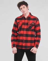 Textil Homem Camisas mangas comprida Dickies NEW SACRAMENTO SHIRT RED Vermelho / Preto