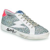 Sapatos Mulher Sapatilhas Semerdjian CATRI Prata / Rosa