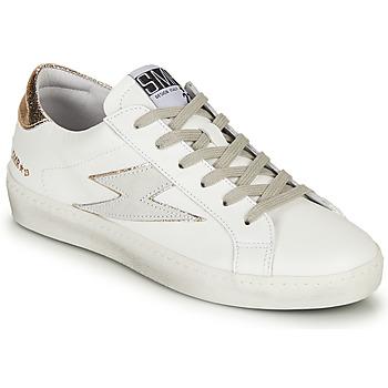 Sapatos Mulher Sapatilhas Semerdjian CATRI Branco / Ouro