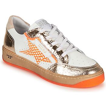 Sapatos Mulher Sapatilhas Semerdjian ARTO Branco / Laranja