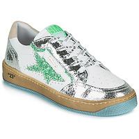 Sapatos Mulher Sapatilhas Semerdjian ARTO Branco / Prata / Verde