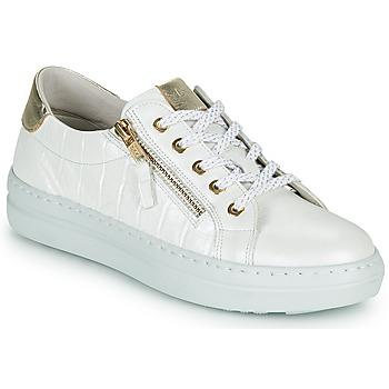 Sapatos Mulher Sapatilhas Dorking VIP Branco / Prata