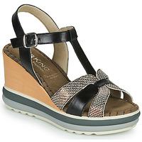 Sapatos Mulher Sandálias Dorking TOTEM Preto / Bronze