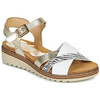 Sapatos Mulher Sandálias Dorking ESPE Branco / Prata