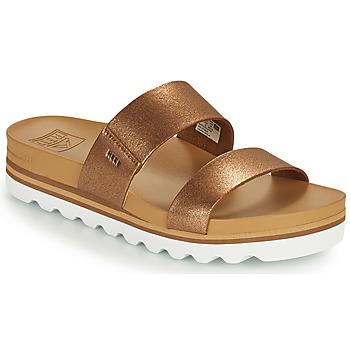 Sapatos Mulher chinelos Reef CUSHION VISTA HI Castanho