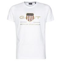 Textil Homem T-Shirt mangas curtas Gant ARCHIVE SHIELD Branco