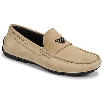 Sapatos Homem Mocassins Emporio Armani ITOLIA Bege