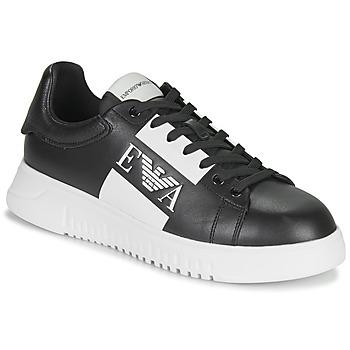 Sapatos Homem Sapatilhas Emporio Armani MALTA Preto / Branco