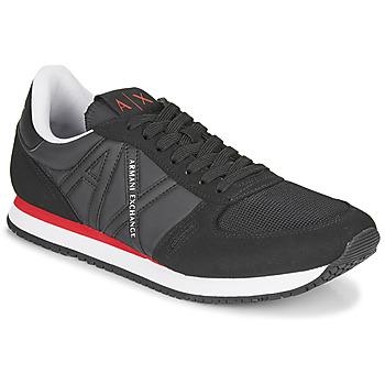 Sapatos Homem Sapatilhas Armani Exchange ESPACIA Preto / Vermelho