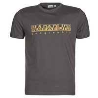 Textil Homem T-Shirt mangas curtas Napapijri SALLAR SS Cinza / Escuro