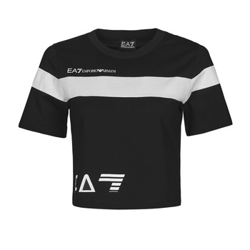 Textil Mulher T-Shirt mangas curtas Emporio Armani EA7 3KTT05-TJ9ZZ-1200 Preto / Branco