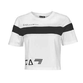 Textil Mulher T-Shirt mangas curtas Emporio Armani EA7 3KTT05-TJ9ZZ-1100 Branco / Preto
