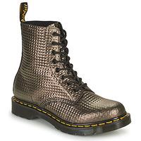 Sapatos Mulher Botas baixas Dr Martens 1460 PASCAL Toupeira / Ouro