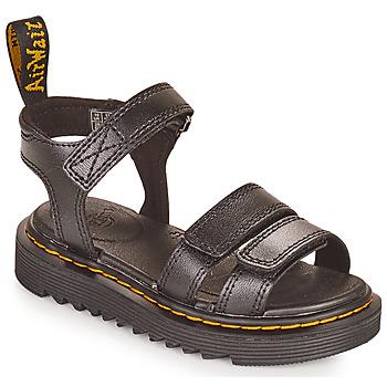 Sapatos Rapariga Sandálias Dr Martens KLAIRE J Preto