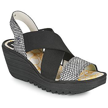 Sapatos Mulher Sandálias Fly London YAJI Preto / Branco