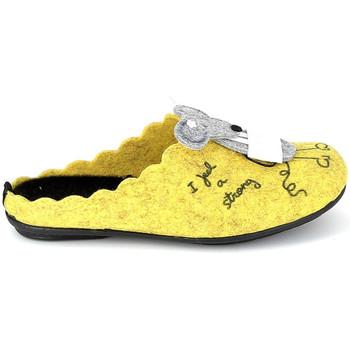 Sapatos Chinelos La Maison De L'espadrille Mule Souris Jaune Amarelo