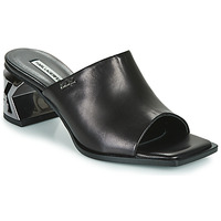 Sapatos Mulher Chinelos Karl Lagerfeld K-BLOK Square Toe Mule Preto