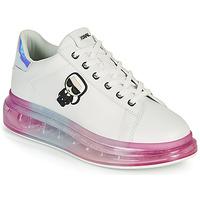 Sapatos Mulher Sapatilhas Karl Lagerfeld KAPRI KUSHION KARL IKONIC LO LACE Branco / Multicolor