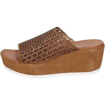 Sapatos Mulher Sandálias Femme Plus BK620 Castanho