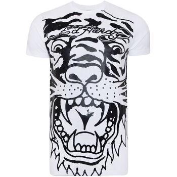 Textil Homem T-Shirt mangas curtas Ed Hardy - Big-tiger t-shirt Branco