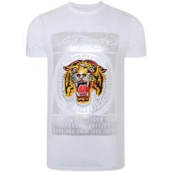 Textil Homem T-Shirt mangas curtas Ed Hardy - Tile-roar t-shirt Branco