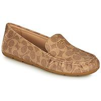 Sapatos Mulher Mocassins Coach MARLEY DRIVER Castanho