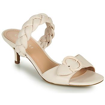 Sapatos Mulher Chinelos Coach MOLLIE Marfim