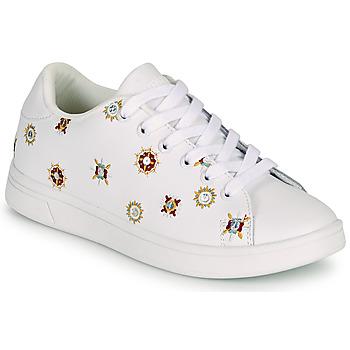 Sapatos Mulher Sapatilhas Desigual COSMIC JULIETTE Branco